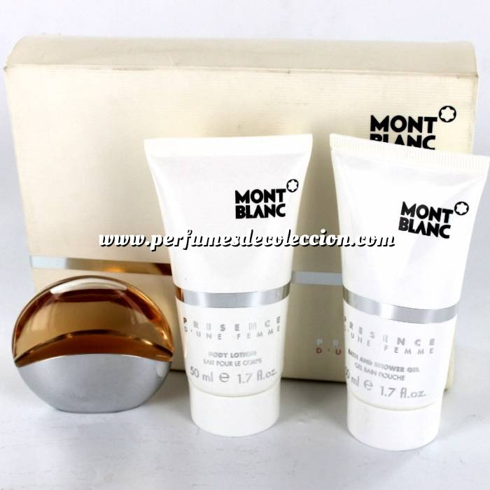 Imagen EDICIONES ESPECIALES Presence d Une Femme Eau de Toilette más Gel más Body Lotion by Mont Blanc (EDICIÓN ESPECIAL) (Últimas Unidades)