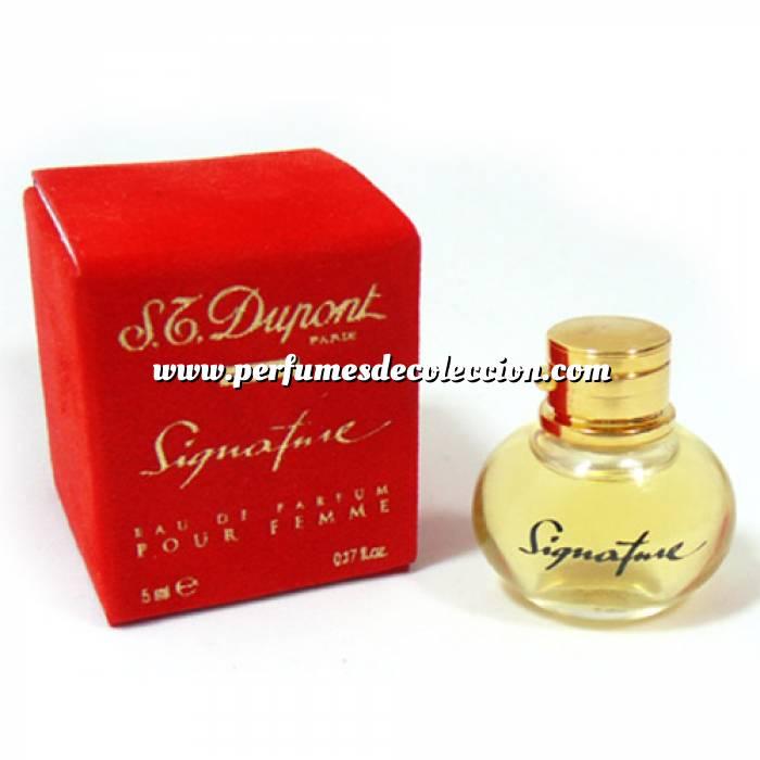 Imagen -Mini Perfumes Mujer Signature Eau de Parfum for Femme by S.T. Dupont 5ml. (Letras DORADAS) (Últimas Unidades)